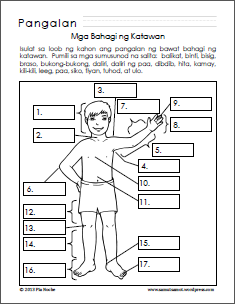 How to Color kindergarten body parts worksheet body parts fill in ...