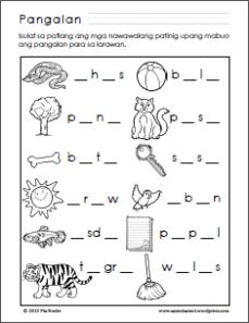 Aspekto ng pandiwa worksheets grade 6