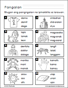Preschool Worksheets with Filipino Instructions (Part 2)
