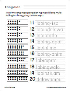 filipino numbers from 1 to 20 – samut samot