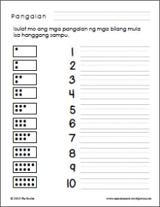 Filipino numbers from 1 to 20   Samut-samot
