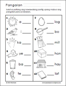 thumbnails below are links to pdf worksheets on Filipino syllables ...