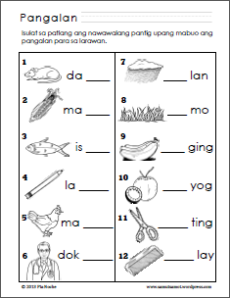 The three thumbnails below are links to pdf worksheets on Filipino ...