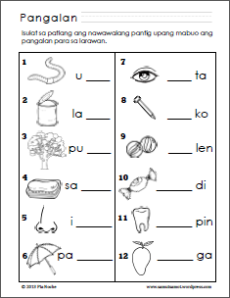 44 FREE PRINTABLE WORKSHEETS FOR GRADE 1 FILIPINO, FREE ...
