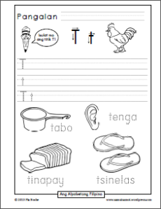 Filipino Alphabet on Tracing Letter G