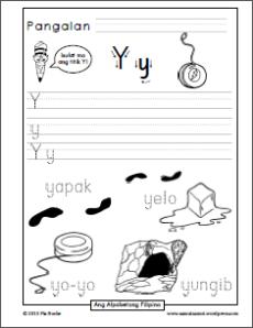 Filipino handwriting worksheets | Samut-samot