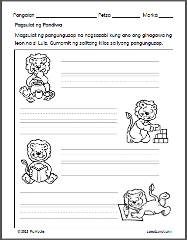 Assorted Preschool Filipino Worksheets | Samut-samot