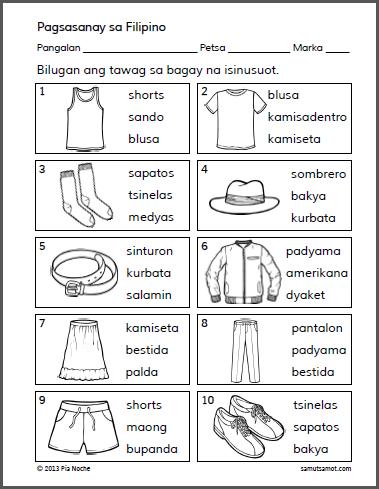Bilugan ang Tawag sa Isinusuot_p1