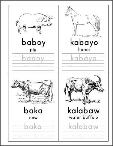 Mga Karaniwang Hayop Handwriting Booklet – Samut-samot