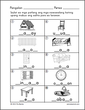 Filipino Preschool Worksheets likewise Filipino Grade 1 Worksheets ...