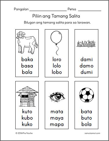 Worksheet For Grade 1 In Filipino : Filipino worksheets for preschool Samut samot