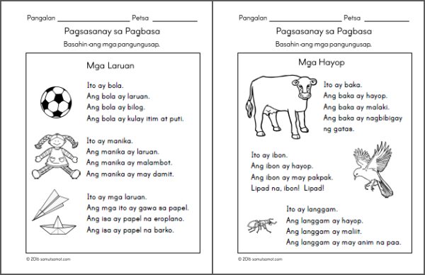 Reading Worksheets For Grade 1 Filipino : Preschool filipino worksheets bundle vol samut samot