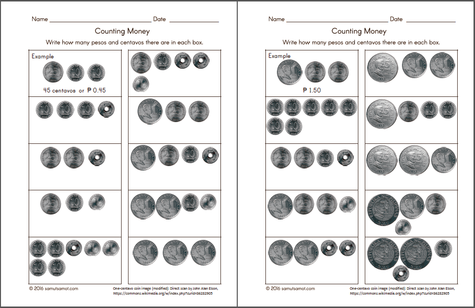 Printable Worksheets money worksheets pdf : Philippine Money Chart and Worksheets – Samut-samot