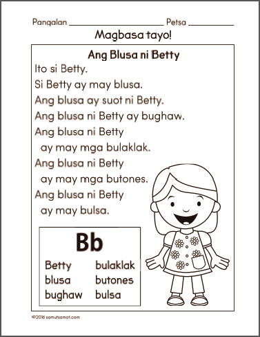 Reading worksheets for grade 1 filipino