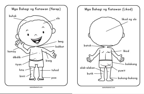 bahagi ng research paper sa filipino