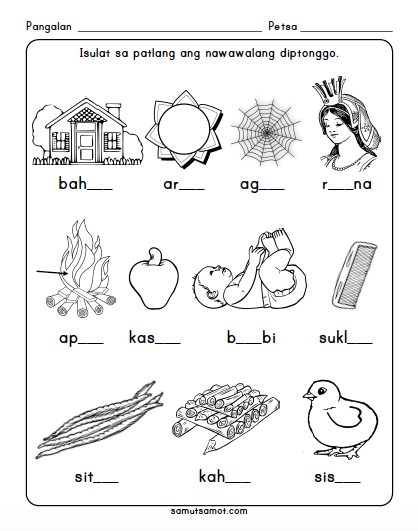 diptonggo worksheets